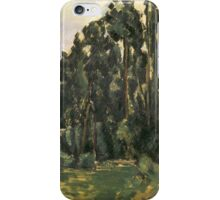 Paul Cezanne - Poplars 1879 - 1880 iPhone Case/Skin