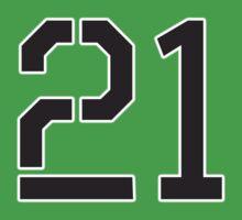 21, TEAM, SPORTS, NUMBER 21, TWENTY ONE, TWENTY FIRST, TWO, ONE, Stencil, Competition,  Kids Tee