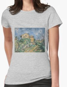 Paul Cezanne - Maison Maria with a View of Chateau Noir  1895 Womens Fitted T-Shirt