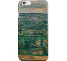 Paul Cezanne - Landscape from Jas de Bouffan  1879 iPhone Case/Skin