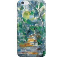 Paul Cezanne - Forest Scene Path from Mas Jolie to Château noir 1900 - 1902 iPhone Case/Skin