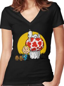 Buddies Women's Fitted V-Neck T-Shirt