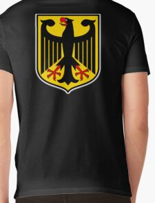 GERMAN EAGLE, on BLACK, German Coat of Arms, Flag, Bundesdienstflagge und Kriegsflagge Mens V-Neck T-Shirt