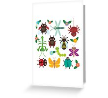 Insects on white Greeting Card