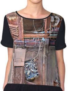A Collaboration Of Rust Chiffon Top