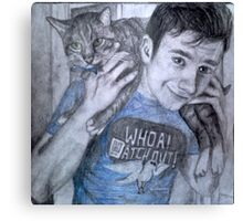 Chris and Brian colfer Canvas Print