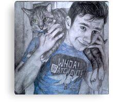 Chris and Brian colfer Canvas Print