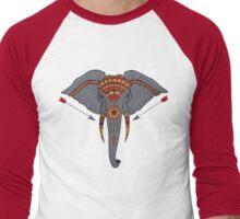Ancient Elephant Men's Baseball ¾ T-Shirt