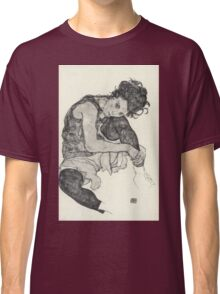 Egon Schiele - Zeichnungen I. 1917  Expressionism Woman Portrait Classic T-Shirt