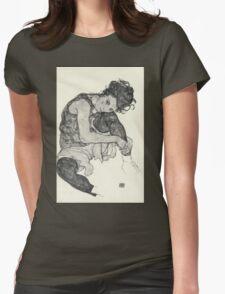 Egon Schiele - Zeichnungen I. 1917  Expressionism Woman Portrait Womens Fitted T-Shirt