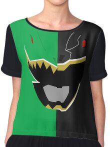 Black N Green - Dino Charge Chiffon Top