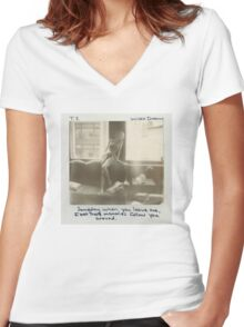 Wildest Dreams Cover Art Women's Fitted V-Neck T-Shirt