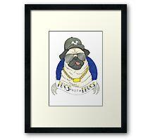 Pugs, Not Drugs  Framed Print