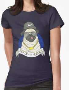 Pugs, Not Drugs  Womens Fitted T-Shirt