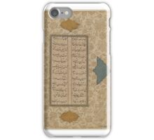 Two Leaves of Manuscript, 17th Century. Calligraphy, iPhone Case/Skin