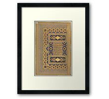 Unwan from the Shah Jahan Album Calligrapher, Mir 'Ali Haravi Framed Print
