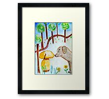 Discovery in the forest Framed Print