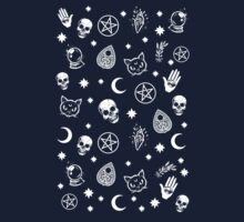 Witch Pattern One Piece - Short Sleeve