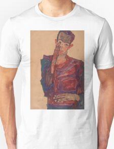Egon Schiele - Self-Portrait with Eyelid Pulled Down, 1910  Expressionism  Portrait Unisex T-Shirt