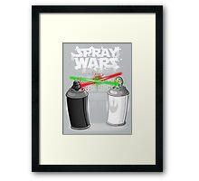 Spray wars Framed Print