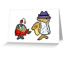 Secret Squirrel & Morocco Mole - Pixel Art Greeting Card