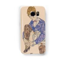 Egon Schiele - Portrait of the Artist's Wife Seated, Holding Her Right Leg 1917 Samsung Galaxy Case/Skin