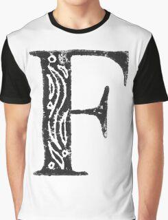 Serif Stamp Type - F Graphic T-Shirt
