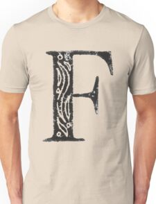 Serif Stamp Type - F Unisex T-Shirt