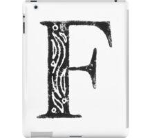 Serif Stamp Type - F iPad Case/Skin