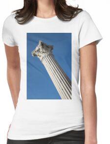 Classical Corinthian Column - Ancient Pompeii Graceful Beauty Left Womens Fitted T-Shirt