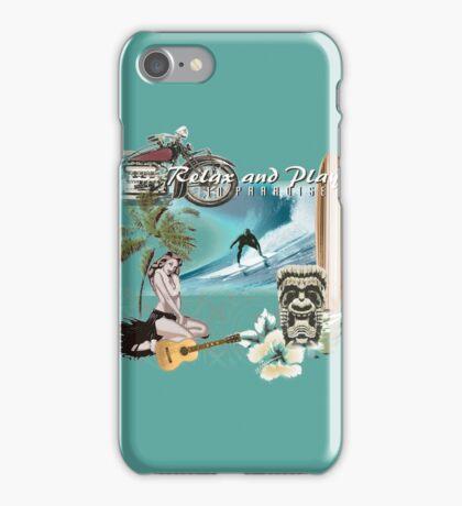 retro beach iPhone Case/Skin
