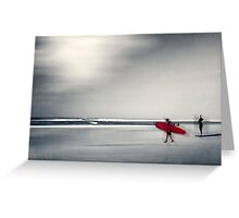 red surfboard 16 Greeting Card