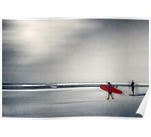 red surfboard 16 Poster