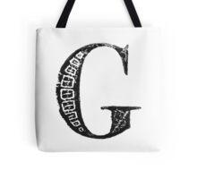 Serif Stamp Type - Letter G Tote Bag