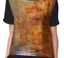 Moonrise Over the Seas of Hades Chiffon Top