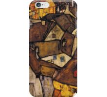 Egon Schiele - Krumau - Crescent of Houses The Small City V Krumau Hauserbogen die Kleine Stadt V 1915 iPhone Case/Skin