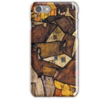 Egon Schiele - Krumau - Crescent of Houses The Small City V Krumau Hauserbogen die Kleine Stadt V 1915 iPhone Case/Skin