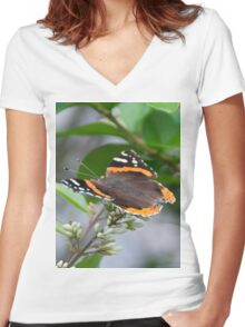 Red Admiral Women's Fitted V-Neck T-Shirt