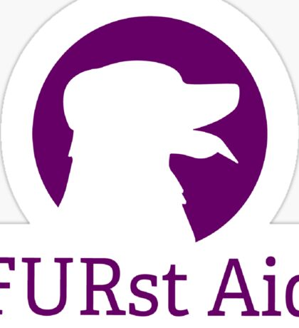 FURst Aid  Sticker