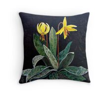 """""""Trout Lily""""   Throw Pillow"""