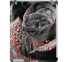 Red drops on Rose Petals iPad Case/Skin