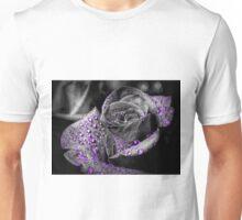 Purple drops on Rose Petals Unisex T-Shirt