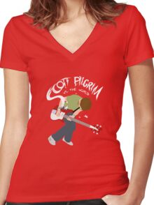 Scott Pilgrim vs the world Women's Fitted V-Neck T-Shirt