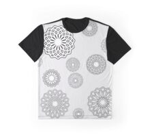 Lace Flowers Graphic T-Shirt