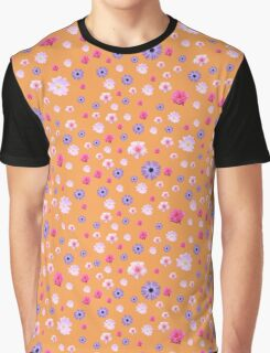 Mixed Roses and Other Flowers Graphic T-Shirt