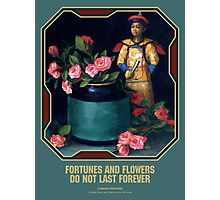 Chinese Proverb Fortunes and Flowers Photographic Print