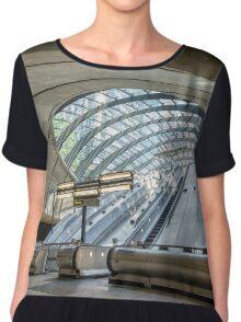 Canary Wharf Underground Station Chiffon Top