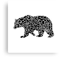 Bear with giraffe print Canvas Print