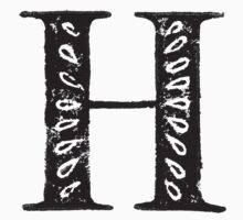 Serif Stamp Type - Letter H One Piece - Long Sleeve