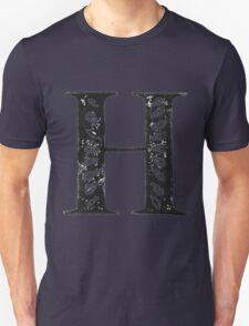 Serif Stamp Type - Letter H Unisex T-Shirt